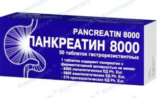 Панкреатин 8000 цена украина
