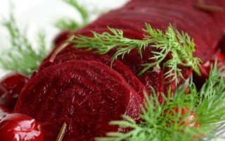 Слабительный салат из свеклы