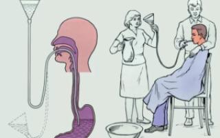 Как скорая промывает желудок